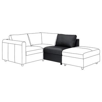 IKEA VIMLE Sekcja 1-osobowa, Grann/Bomstad czarny, Wysokość oparcia: 68 cm