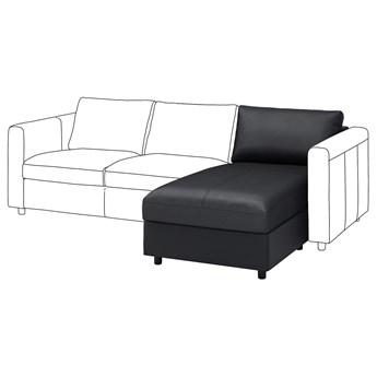 IKEA VIMLE Sekcja leżanka, Grann/Bomstad czarny, Wysokość oparcia: 68 cm