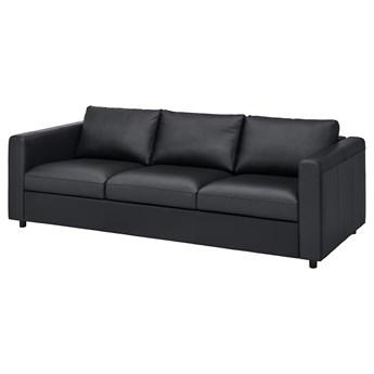 IKEA VIMLE Sofa 3-osobowa, Grann/Bomstad czarny, Wysokość z poduchami oparcia: 80 cm