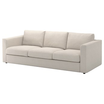IKEA VIMLE Sofa 3-osobowa, Gunnared beżowy, Wysokość z poduchami oparcia: 83 cm