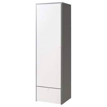 IKEA VISTHUS Szafa, szary/biały, 63x59x216 cm