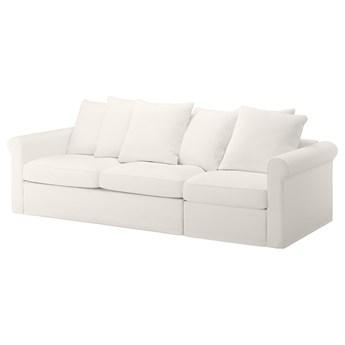 IKEA GRÖNLID Rozkładana sofa 3-osobowa, Inseros biały, Wysokość łóżka: 53 cm