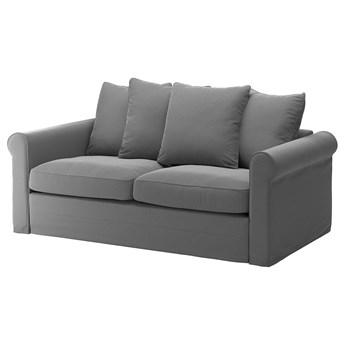 IKEA GRÖNLID Sofa 2-osobowa rozkładana, Ljungen średnioszary, Wysokość łóżka: 53 cm