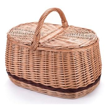 Piknik bagażowy wiklinowy kosz