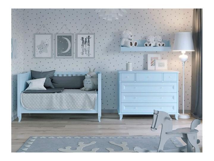 ALEX Łóżeczko A14 , Kolor - Błękit Rozmiar materaca 70x140 cm