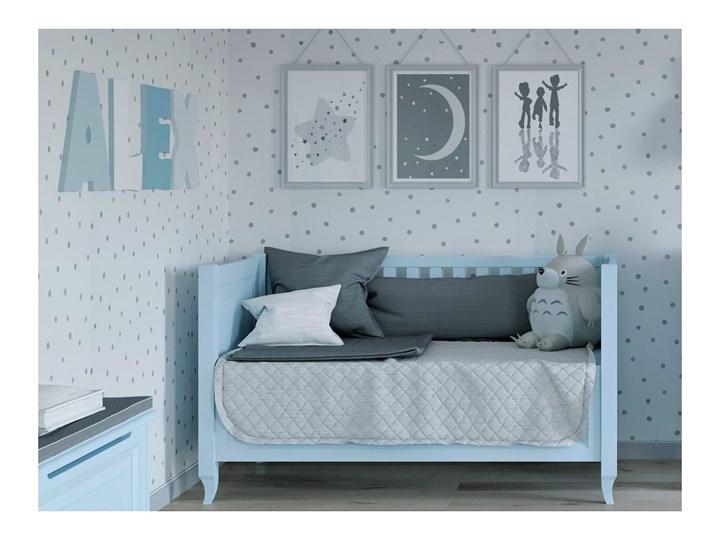 ALEX Łóżeczko A14 , Kolor - Błękit Rozmiar materaca 70x140 cm Kolor