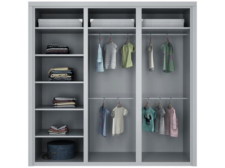 SIMONE Szafa S6 D , Kolor - Grafit Kategoria Szafy do garderoby