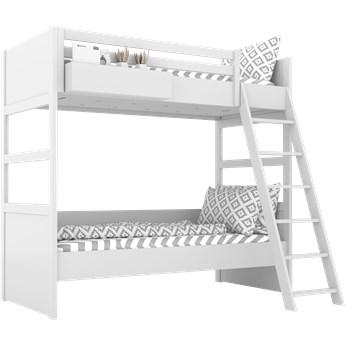 SIMONE Łóżko piętrowe S7 D , Kolor - Biały