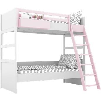 SIMONE Łóżko piętrowe S7 D , Kolor - Róż