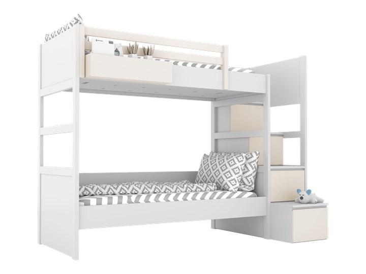 SIMONE Łóżko piętrowe S7 S , Kolor - Mastik Kategoria Łóżka dla dzieci Kolor Biały