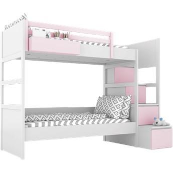 SIMONE Łóżko piętrowe S7 S , Kolor - Róż