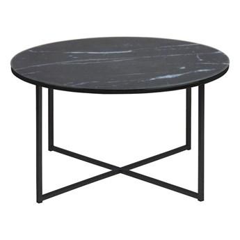 Okrągły stolik kawowy Montreal 80 czarny optyka marmuru