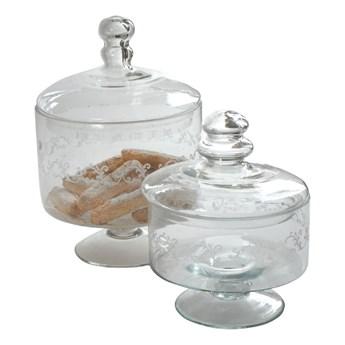 Zestaw 2 szklanych pojemników Antic Line
