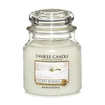 Słoik średni Yankee Candle Fluffy Towels Słoik średni 411g