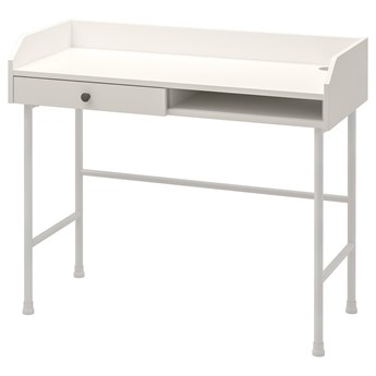 IKEA HAUGA Biurko, Biały, 100x45 cm
