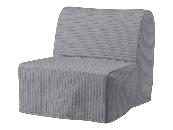 IKEA LYCKSELE LÖVÅS Fotel rozkładany, Knisa jasnoszary, Szerokość: 80 cm Tworzywo sztuczne Bawełna Wysokość 87 cm Tkanina Głębokość 100 cm Pomieszczenie Salon