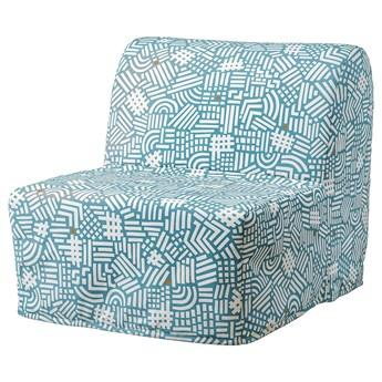 IKEA LYCKSELE LÖVÅS Fotel rozkładany, Tutstad wielobarwny, Szerokość: 80 cm
