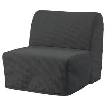 IKEA LYCKSELE LÖVÅS Fotel rozkładany, Vansbro ciemnoszary, Szerokość: 80 cm