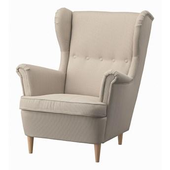 IKEA STRANDMON Fotel uszak, Kelinge beżowy, Szerokość: 82 cm