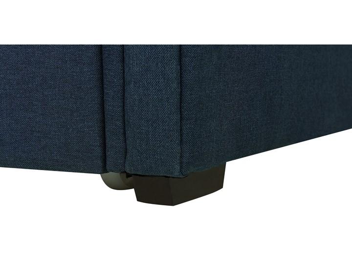 Łóżko dziecięce wysuwane ze stelażem ciemnoniebieskie tapicerowane tkaniną pikowane oparcie 90 x 200 cm Rozmiar materaca 90x200 cm Tworzywo sztuczne Drewno Kategoria Łóżka dla dzieci