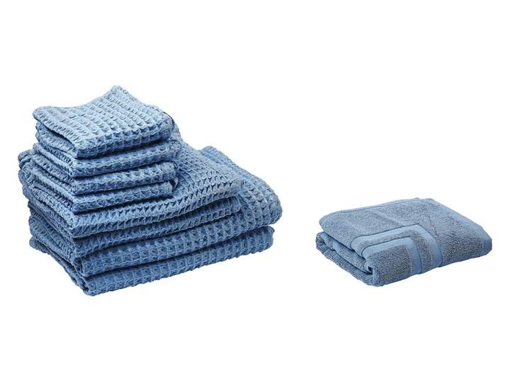 Komplet 9 ręczników niebieski bawełna zero twist ręczniki dla gości do rąk kąpielowy i mata łazienkowa Ręcznik do rąk Komplet ręczników Ręcznik kąpielowy