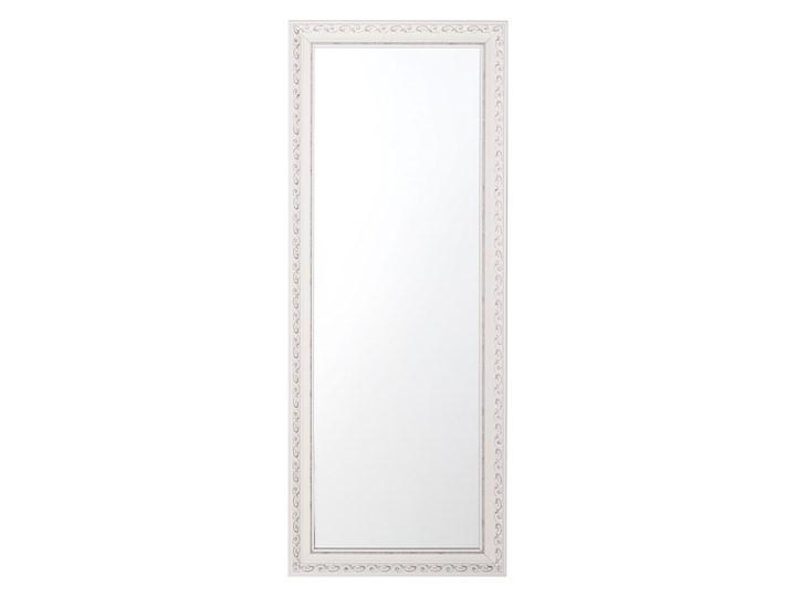 Lustro ścienne wiszące biało-srebrne 50 x 130 cm łazienka przedpokój Lustro z ramą Prostokątne Styl Vintage