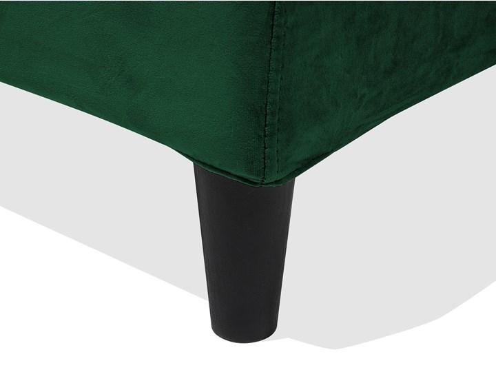 Łóżko zielone welurowe 180 x 200 cm ze stelażem i zagłówkiem Łóżko tapicerowane Kategoria Łóżka do sypialni