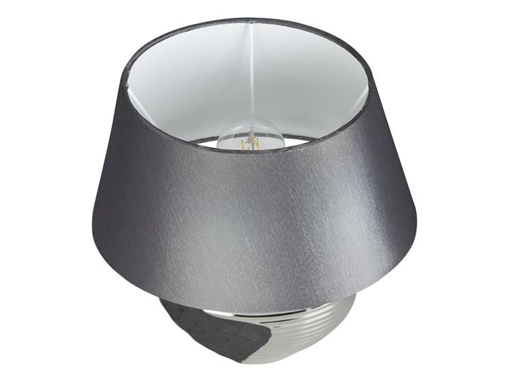 Lampka nocna czarna ze srebrnym ceramiczna ozdobna Lampa z kloszem Lampa dekoracyjna Kolor Czarny Lampa nocna Kategoria Lampy stołowe
