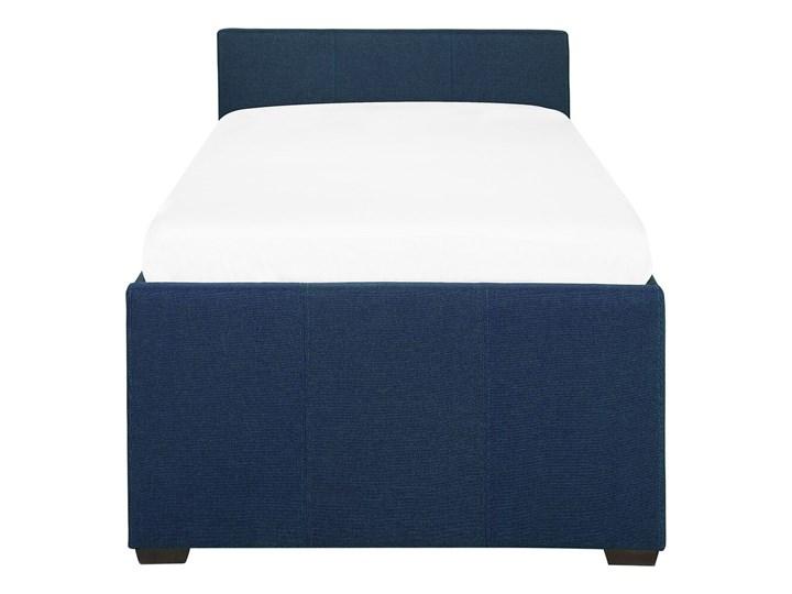 Łóżko dziecięce wysuwane ze stelażem ciemnoniebieskie tapicerowane tkaniną 90 x 200 cm Tworzywo sztuczne Kategoria Łóżka dla dzieci Drewno Rozmiar materaca 90x200 cm