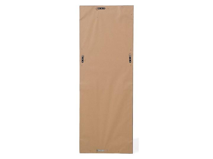 Lustro ścienne wiszące złote 51 x 141 cm ozdobna postarzana rama salon sypialnia styl klasyczny francuski Kolor Złoty Lustro z ramą Prostokątne Styl Vintage