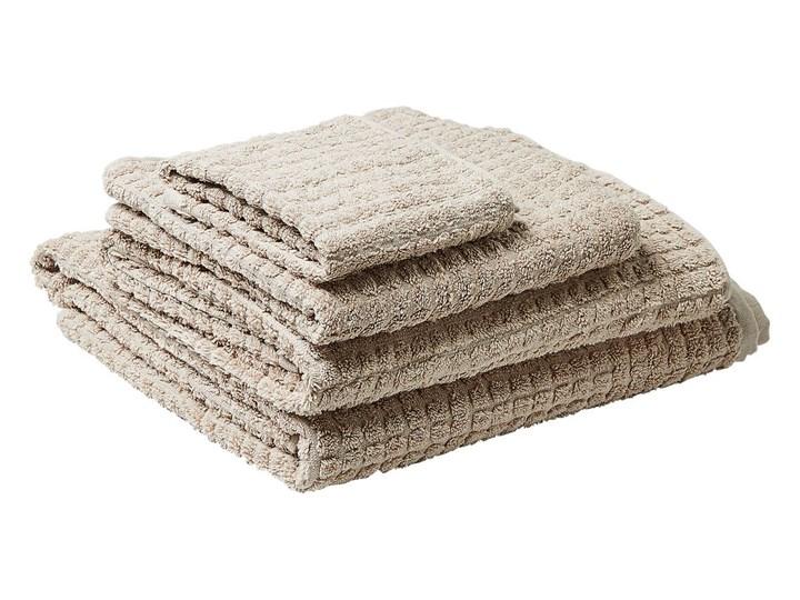 Komplet 4 ręczników beżowy bawełna low twist ręczniki dla gości do rąk kąpielowy i plażowy Ręcznik kąpielowy Ręcznik do rąk Ręcznik plażowy Komplet ręczników Ręcznik z kapturkiem