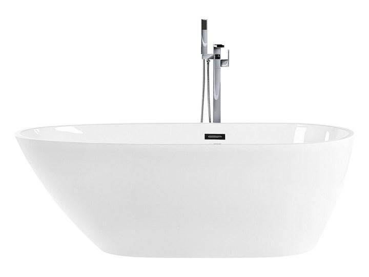 Wanna wolnostojąca biała akrylowa 170 x 80 cm owalna zaokrąglona nowoczesny design