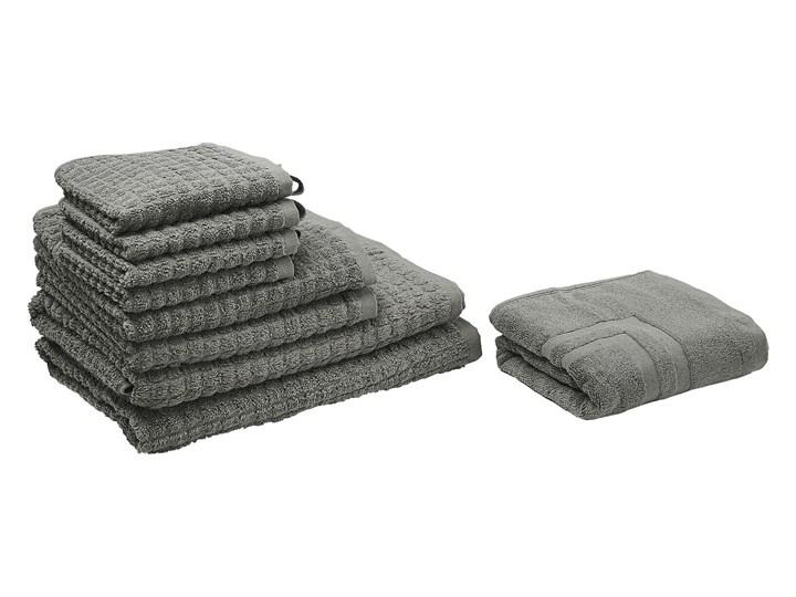 Komplet 9 ręczników szary bawełna low twist ręczniki dla gości do rąk kąpielowy i mata łazienkowa Ręcznik do rąk Komplet ręczników Ręcznik kąpielowy