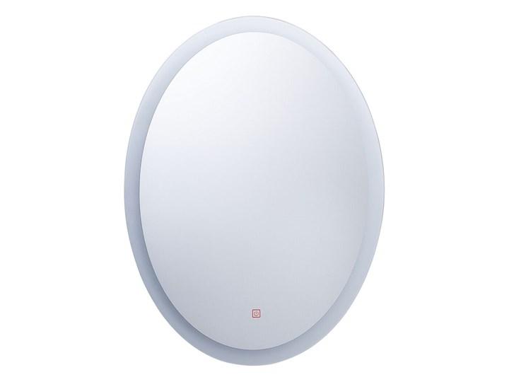 Lustro łazienkowe owalne srebrne 60 x 80 cm z podświetleniem LED system zapobiegający parowaniu Ścienne Lustro bez ramy Pomieszczenie Łazienka