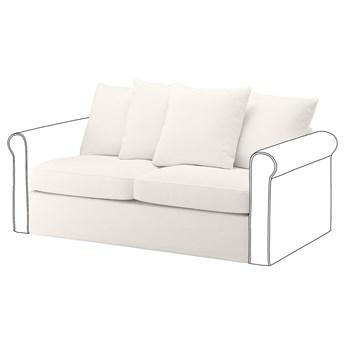 IKEA GRÖNLID Sekcja 2-os sofa rozkładana, Inseros biały, Wysokość z poduchami oparcia: 104 cm