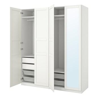 IKEA PAX / TYSSEDAL Kombinacja szafy, biały/lustro, 200x60x236 cm