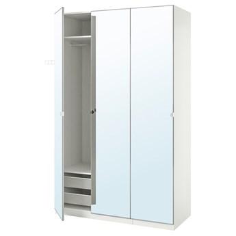 IKEA PAX / VIKEDAL Kombinacja szafy, biały/lustro, 150x60x236 cm