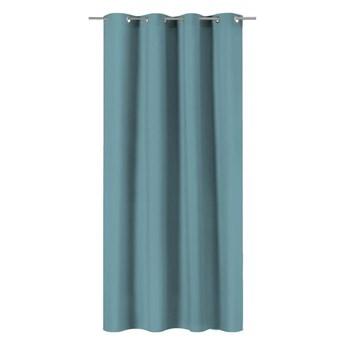 Zasłona Pharell niebieska 140 x 280 cm na przelotkach Inspire