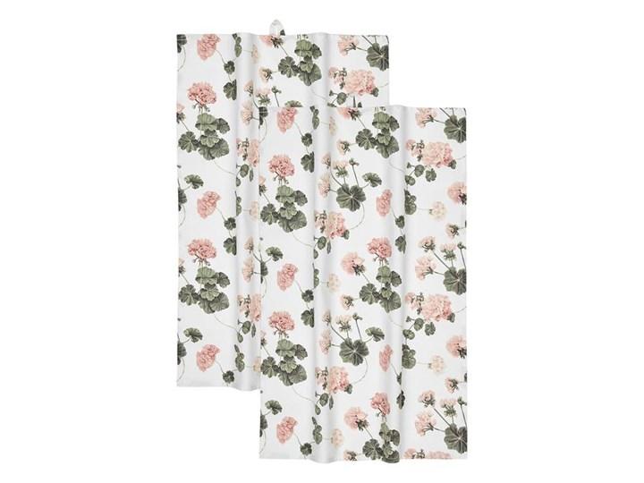 Ręcznik kuchenny zserii Pelargon 2 Pack Bawełna Kolor Biały 50x70 cm Komplet ręczników Kategoria Ręczniki
