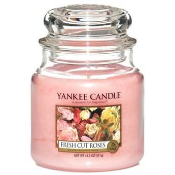 Słoik średni Yankee Candle Fresh Cut Roses Słoik średni 411g