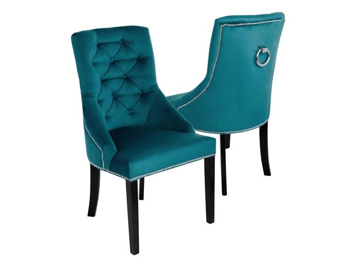 Krzesło do jadalni Sisi 3 z pinezkami i kołatką Drewno Głębokość 63 cm Tapicerowane Tkanina Wysokość 98 cm Szerokość 56 cm Kategoria Krzesła kuchenne