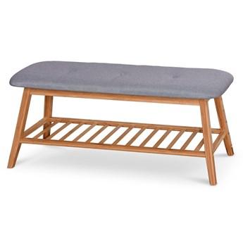 Drewniana ławka z półką na obuwie Laosa 100 cm - popiel