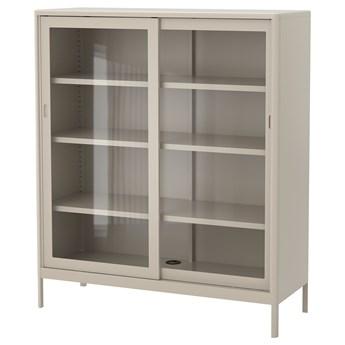 IKEA IDÅSEN Witryna z przesuwanymi drzwiami, Beżowy, 120x140 cm