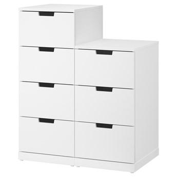 IKEA NORDLI Komoda, 7 szuflad, Biały, 80x99 cm