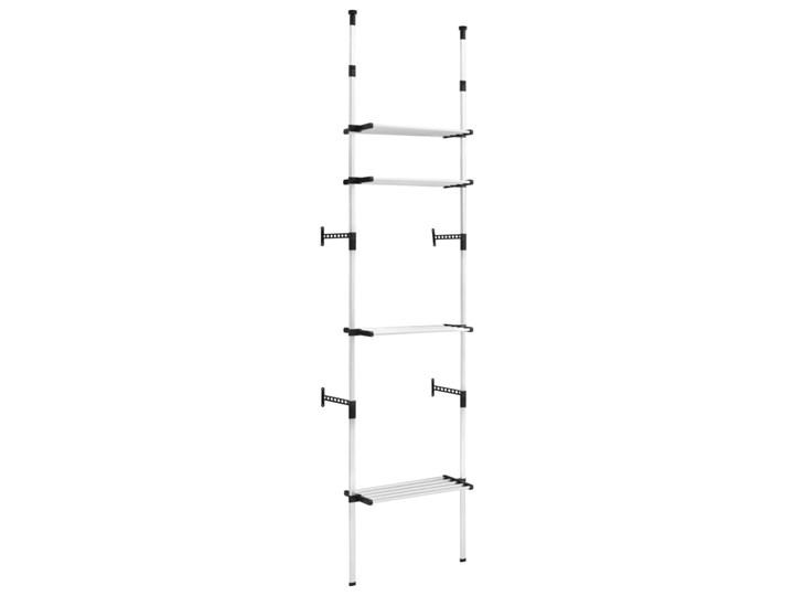 VidaXL System teleskopowych drążków z półkami do garderoby, aluminiowy