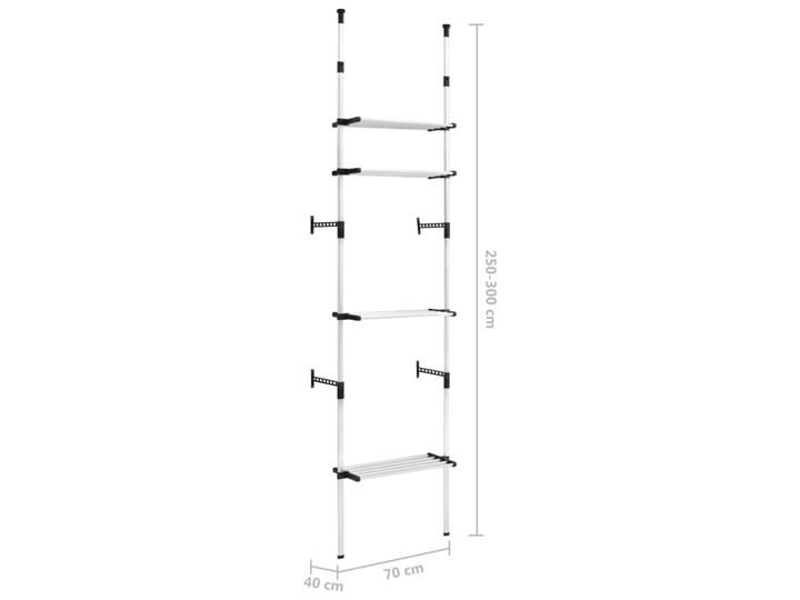 VidaXL System teleskopowych drążków z półkami do garderoby, aluminiowy Pomieszczenie Sypialnia Pomieszczenie Garderoba