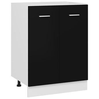VidaXL Szafka kuchenna, czarna, 60x46x81,5 cm, płyta wiórowa