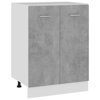 VidaXL Szafka kuchenna, szarość betonu, 60x46x81,5 cm, płyta wiórowa