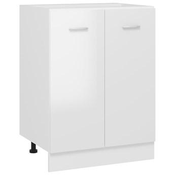 VidaXL Szafka kuchenna, wysoki połysk, biała, 60x46x81,5 cm, płyta