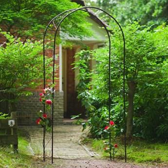 Nature Łuk ogrodowy, metalowy, 100x37x230 cm, czarny